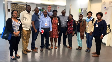 May 2019 IPHID group from Tanzania with Dr. David Riedel at UMB.
